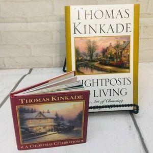 Thomas Kinkade lot 2 hardback books A Christmas